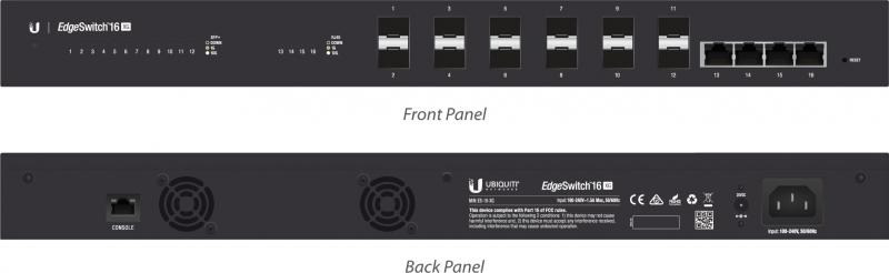 Ubiquiti Managed Poe+ Giga Switch 16 Port 10g 12 Sfp+ Ports 4 10g Rj45 Es-16-xg
